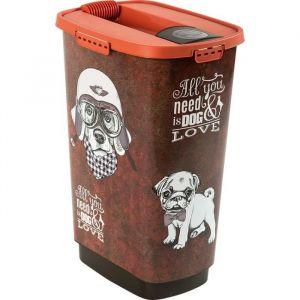 Rotho Container à croquettes verseur Cody 50 L - Pour chien et chat