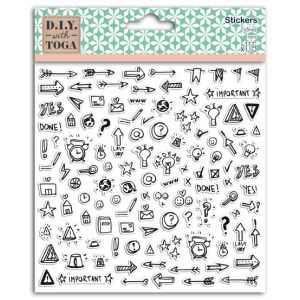 D.I.Y. with Toga 115 stickers - 15x15 cm - Bullet journal©