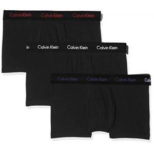 Calvin Klein Lot de 3 boxers coton mélangé stretch taille basse Noir/Noir - Noir - Taille L;M;S;XL