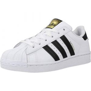 Adidas Chaussures enfant SUPERSTAR C - Couleur 28,29,30,31,32,33,34,35,33 1/2,31 1/2,30 1/2,28 1/2 - Taille Blanc