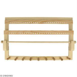 Artémio Porte bijoux en bois à décorer - 35 x 22 x 4,5 cm