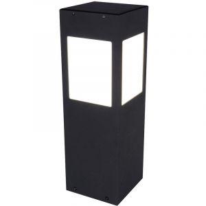Globo Lampe solaire à LED, aluminium, noir, détecteur de mouvement
