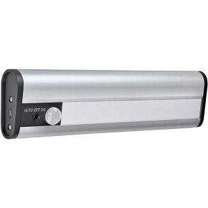 Ledvance GADGET LinearLED (Rechargeable par USB) | Réglette Mobile à Batterie | Argent | 20cm de longueur | 1 Watts - 69 Lumens | Blanc Froid