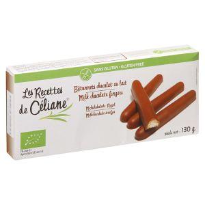 Les Recettes de Céliane Bâtonnets au chocolat au lait Bio sans gluten (130g)