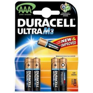 Duracell 4 piles alcalines AAA/LR03 Ultra Power
