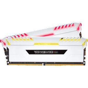 Corsair CMR16GX4M2C3000C16W - Vengeance RGB Series 16 Go (2x 8 Go) DDR4 3000 MHz CL16 - Blanc