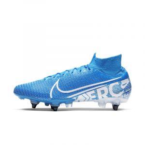 Nike Chaussures de foot Mercurial Superfly VII Elite SG-Pro Anti-Clog bleu - Taille 40,43,44,45,40 1/2,42 1/2