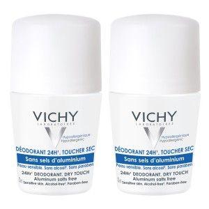 Vichy Déodorant 24h Toucher sec - Roll-on sans sels d'aluminium