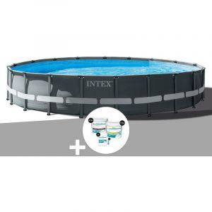 Intex Kit piscine tubulaire Ultra XTR Frame ronde 6,10 x 1,22 m + Kit de traitement au chlore