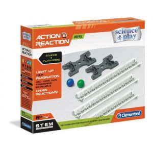 Clementoni Science & Jeu Action & Réaction - Recharge N°1 - Rails + Bases