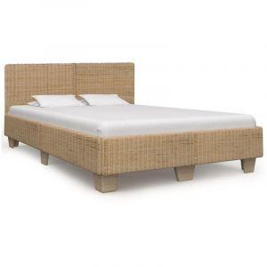 VidaXL Cadre de lit Rotin véritable tissé à la main 160 x 200 cm