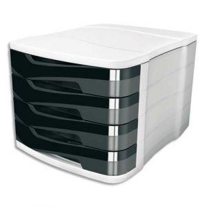 CEP Office Solutions Bloc de classement 4 tiroirs noir Ellypse 394R
