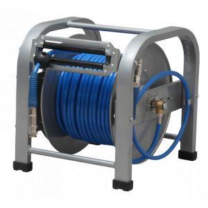 Lacme Enrouleur manuel avec tuyau PU 8 x 12 mm longueur 30 m pression 15 bars