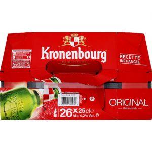 Kronenbourg Bière blonde, 4,2%vol. - Le pack de 26 bouteilles de 25cl