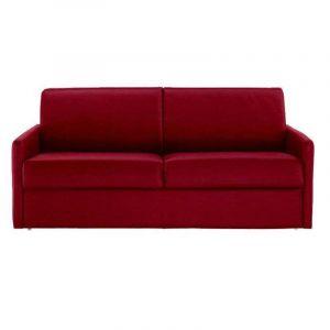 b625241730f4e3 INSIDE Canapé lit 4 places SUN convertible RAPIDO 160cm, tissu tweed rouge