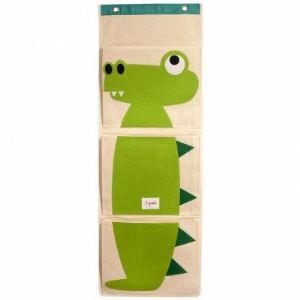 3 Sprouts Vide-poche mural Crocodile