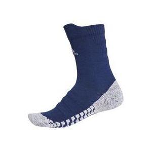 Adidas Alpha Skin Traxion Lightweight Cushioning Crew Sock Chaussettes M Dark Blue/White