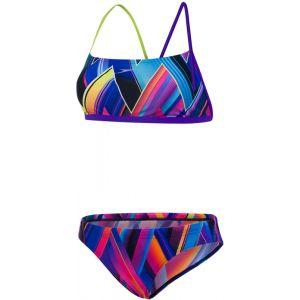 Speedo Fizzbounce 2 Piece Crossback - Bikini Femme - Multicolore DE 38 / UK 34 Maillots de bain
