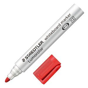 Staedtler 10 marqueurs effaçable à sec encre rouge pointe ogive