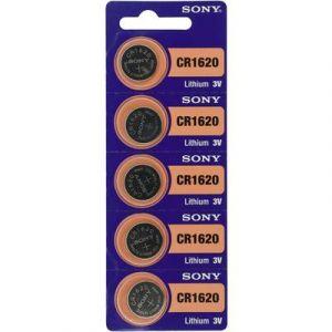 Sony Pile bouton lithium CR 1620 78 mAh 3V 5 pcs