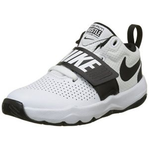 Nike Team Hustle D 8 PS, Chaussures de Basketball Fille, Blanc (White/Black), 34 EU