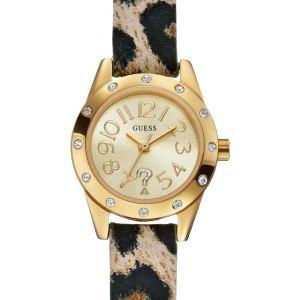 Guess W0341L - Montre pour femme avec bracelet cuir