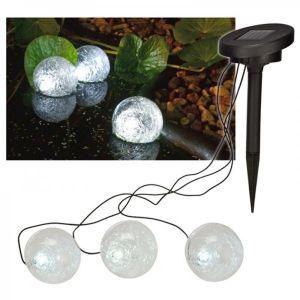 H international 3 boules solaire étanche pour illumination plan d'eau
