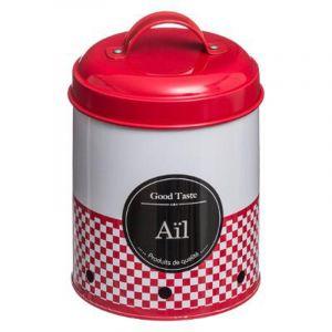 Secret de Gourmet Boîte ail en métal - 11 x 14 x 17 cm - Rouge
