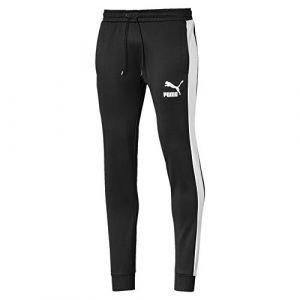 Puma Pantalon de survêtement Iconic T7 en maille pour Homme, Noir, Taille XL