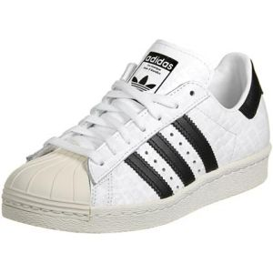 Adidas Basket Superstar 80s W S76416 Blanc Croco - Couleur Blanc - Taille 36