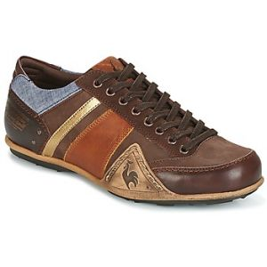 Le Coq Sportif Turin Leather/Chambray, Baskets Hommes, Marron (Reglisse), 42 EU