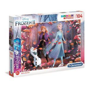 Clementoni Puzzle brillant 104 pièces La Reine des Neiges 2