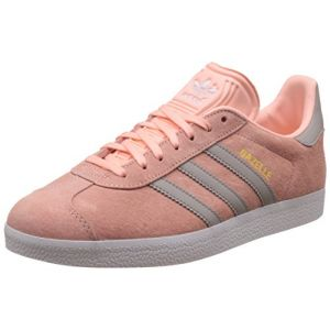 Adidas Gazelle, Baskets Basses Femme, Rose (Haze Coral/Clear Granite/Footwear White), 41 1/3 EU