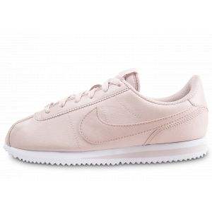 Nike Enfant Cortez Basic Rose Et Blanche Junior Baskets