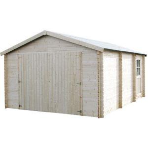 Decor et jardin 71702S017 - Garage en bois 34 mm 19,99 m2