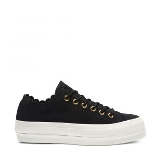 Converse Baskets basses CHUCK TAYLOR ALL STAR PLATFORM FRILLY THRILLS SUEDE OX Noir - Taille 36,37,38,39,40,41,35
