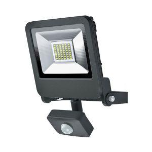 Osram Projecteur Extérieur LED ENDURA FLOOD - Détecteur de Mouvement - Etanche IP44 - 30W - 2400 lumen - Orientable 180° - Blanc chaud 3000K - Gris Anthracite