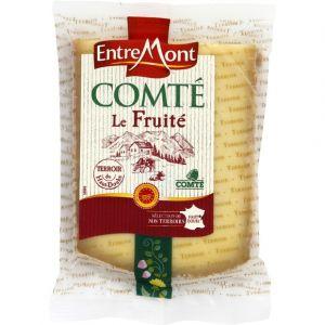 Entremont Comté du Haut Doubs, fromage à pâte pressée cuite, fruité, AOC - Le paquet de 200g