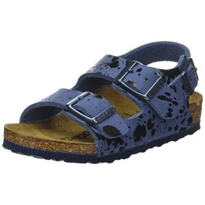 Image de Birkenstock Milano, Sandales Bride Arriere Garçons, Bleu (Colour Sprays Blue Colour Sprays Blue), 32 EU