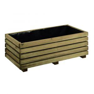 Jardipolys Bac à fleurs en bois rectangulaire KUB 80 - BURGER