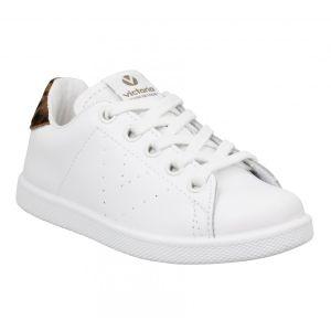 Victoria Chaussures enfant 12510 cuir Enfant Blanc Leopard blanc - Taille 26,27,28,29,30,31,32,33,34