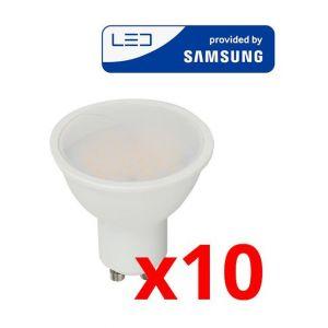 V-TAC Spot LED Pro 5 W GU10 Samsung Chip Pack 10 Vt-205 - Blanc Neutre - 4000k - 110 Deg