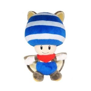 Peluche Super Mario : Toad écureuil volant (20 cm)