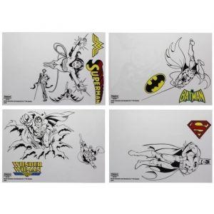 Pal Zileri Lot de 18 Stickers Super-Héros DC Comics