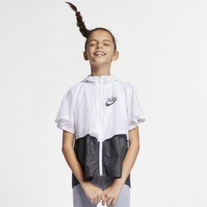 Nike Veste Sportswear Windrunner pour Fille plus âgée - Blanc - Couleur Blanc - Taille L