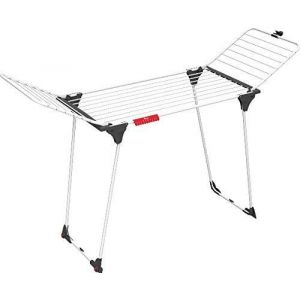 Vileda Séchoir King - séchoir table aluminium/acier - 20m de capacité de séchage + 2 roulettes - ref 157247