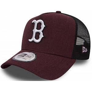 A New Era Casquette Boston Red Sox Trucker mi-droite bordeaux chiné