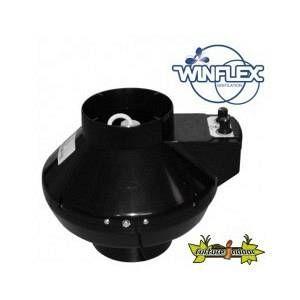 Winflex Ventilation extracteur d'air VKU 125mm 365m³/H thermostat-variateur