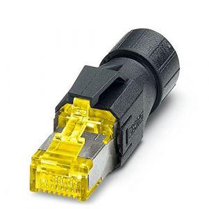 Phoenix contact Connecteur RJ45 IP20 CAT 6 A VS-08-RJ45-10G/Q 1419001 Tension nominale 50 V jaune, noir Condit