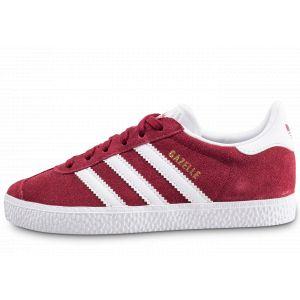 Adidas Chaussures enfant chaussure gazelle bordeaux cq2914 cuir/suede textile 32 rouge - Taille 28,29,30,31,32,33,34